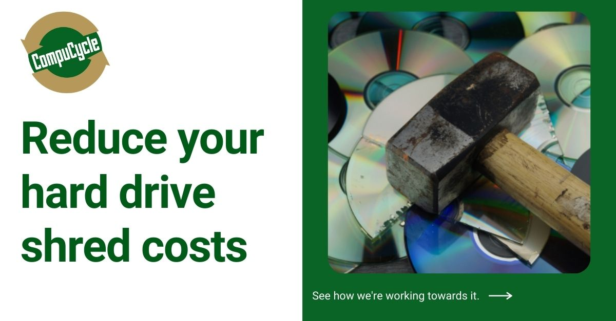 What are the best ways to reduce your hard drive shred costs?